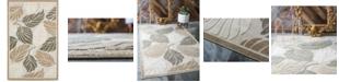 Bridgeport Home Pashio Pas2 Beige/Gray 5' x 8' Area Rug