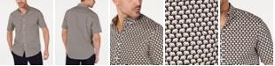 Club Room Men's Stretch Elephant-Print Shirt, Created for Macy's