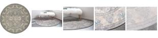 Bridgeport Home Bellmere Bel6 Gray 6' x 6' Round Area Rug