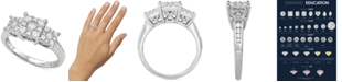 Macy's Diamond Princess Three Stone Engagement Ring (3/4 ct. t.w.) in 14k Gold, White Gold or Rose Gold