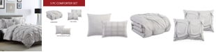 Hallmart Collectibles Corwin Gray 5-Pc. Comforter Sets, Created for Macy's