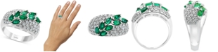 EFFY Collection EFFY® Emerald (1-1/4 ct. t.w.) & Diamond (3/4 ct. t.w.) Ring in 14k White Gold