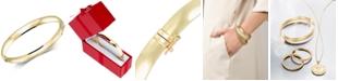 Italian Gold Polished Bangle Bracelet