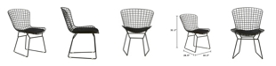 Elle Decor Holly Wire Chair, Set of 2