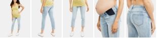 Indigo Blue Maternity Cropped Skinny Jeans