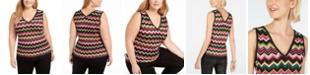 INC International Concepts INC Zig-Zag Sleeveless Sweater, Created for Macy's
