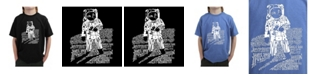LA Pop Art Big Boy's Word Art T-Shirt - Astronaut