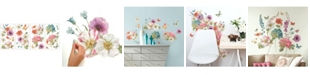 York Wallcoverings Lisa Audit Garden Bouquet Peel and Stick Wall Decals