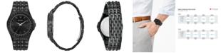 Bulova Men's Phantom Black Stainless Steel Bracelet Watch 42mm