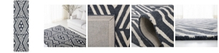 """Lauren Ralph Lauren Imani Geometric LRL6609N Slate 2'3"""" X 8' Runner Area Rug"""
