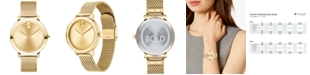 Movado Women's Evolution Swiss Bold Light Gold Ion-Plated Stainless Steel Mesh Bracelet Watch 34mm