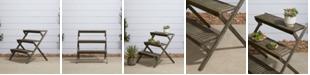 VIFAH Renaissance 3-Layer Hand-Scraped Wood Garden Plant Stand