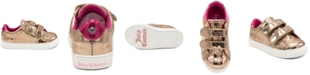 Juicy Couture Toddler Fashion Sneaker with Adjustable Strap