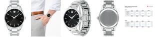 Movado Men's Swiss Stratus Stainless Steel Bracelet Watch 40mm