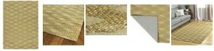 Kaleen Tulum Jute TUL02-72 Maize 5' x 7' Area Rug