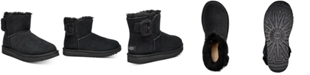 UGG® Women's Mini Bailey Fluff Buckle Boots, Created for Macy's