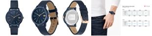Lacoste Women's 12.12 Blue Leather Strap Watch 36mm