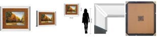 "Classy Art Evening Walk by Robert Striffolino Mirror Framed Print Wall Art, 34"" x 40"""