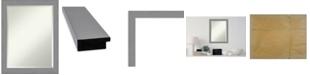 "Amanti Art Brushed Framed Bathroom Vanity Wall Mirror, 21.5"" x 27.50"""