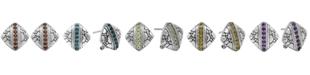 DEVATA Cubic Zirconia Crocodile Classic Stud Clip Earrings in Sterling Silver