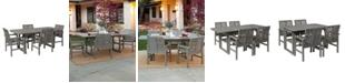Walker Edison 5 Piece Extendable Outdoor Patio Dining Set