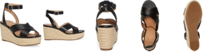 INC International Concepts INC Women's Lemona Crisscross PlatForm Wedges, Created for Macy's