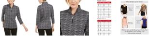 Karen Scott Zip-Neck Pullover, Created for Macy's
