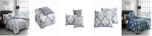 Geneva Home Fashion Lawton Reversible 6-Piece King Comforter Set