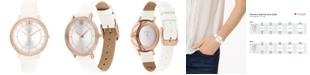 Ferrari Women's Donna Ultra Leggero White Leather Strap Watch 35mm