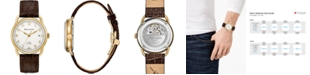 Bulova LIMITED EDITION Men's Swiss Automatic Joseph Bulova Brown Leather Strap Watch 38.5mm