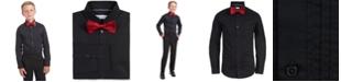 Calvin Klein Big Boys 2-Pc. Slim-Fit Pintucked Tuxedo Shirt & Bow Tie Set