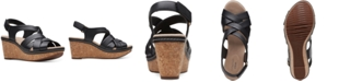 Clarks Collection Women's Annadel Rayna Wedge Sandals