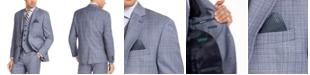 Lauren Ralph Lauren Men's Classic-Fit UltraFlex Stretch Light Blue Plaid Suit Jacket