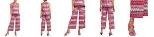 Trina Turk Printed Wide-Leg Pants