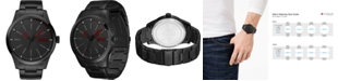 HUGO Men's #Invent Black Stainless Steel Bracelet Watch 46mm
