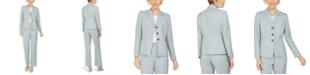 Le Suit Petite Glazed Melange Pantsuit