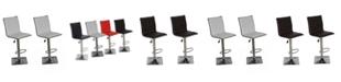 Us Pride Furniture Claudette Adjustable Height Swivel Bar Stool