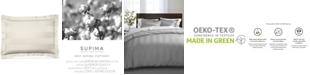 "Charter Club 3"" Stripe 100% Supima Cotton 550 Thread Count Sham, Standard, Created for Macy's"