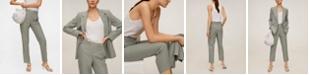 MANGO Women's Cropped Modal Trousers