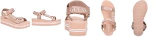GUESS Women's Avin Strappy Platform Sandals