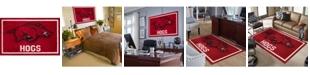 "Luxury Sports Rugs Arkansas Colar Red 3'2"" x 5'1"" Area Rug"
