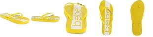 bebe Women's Tierla Logo Flip Flops