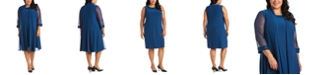 R & M Richards Plus-Size Embellished Dress & Jacket Set