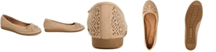 Giani Bernini Odeysa Memory Foam Perforated Ballet Flats, Created for Macy's