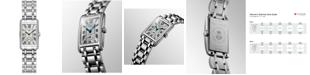 Longines Women's Swiss DolceVita Diamond (3/8 ct. t.w.) Stainless Steel Bracelet Watch 21x32mm L52550716