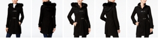 Ivanka Trump Faux-Fur-Trim Buckled Walker Coat