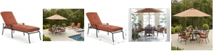 Furniture Chateau Cast Aluminum Outdoor Chaise Lounge, Created for Macy's