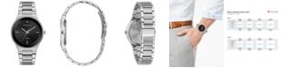 Caravelle  Men's Diamond-Accent Stainless Steel Bracelet Watch 40mm