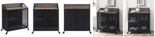"""Walker Edison 33"""" Industrial Bar Cabinet w/ Mesh - Grey Wash"""