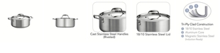 Tramontina Gourmet Tri-Ply Clad 5 Qt Covered Dutch Oven